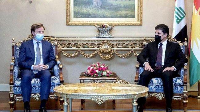 Başkan Neçirvan Barzani ile İngiltere'nin Bağdat Büyükelçisi bir araya geldi