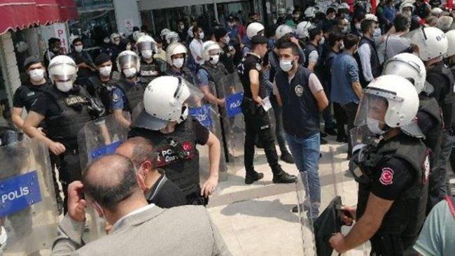 HDP yürüyüşüne polis müdahalesi: Gözaltılar var