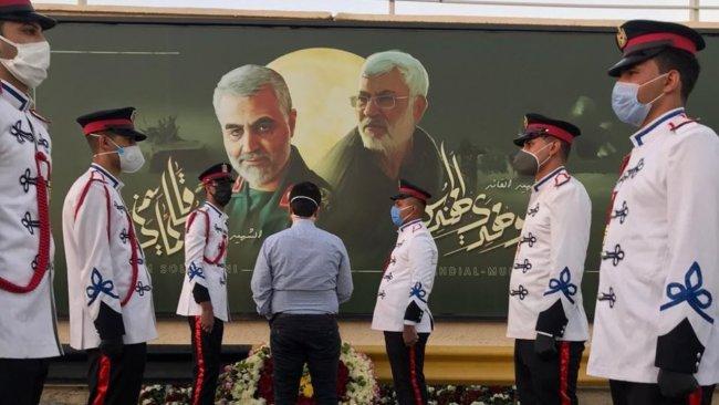 Bağdat Havalimanı'na Süleymani ve Mühendis'e ait posterler asıldı
