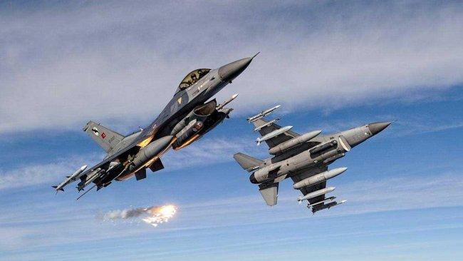 Zap ve Avaşin-Basyan bölgesine hava saldırısı
