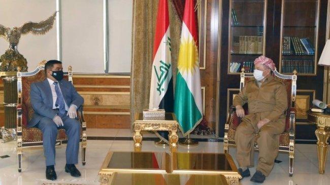 Başkan Mesut Barzani Irak Savunma Bakanı'yla görüştü