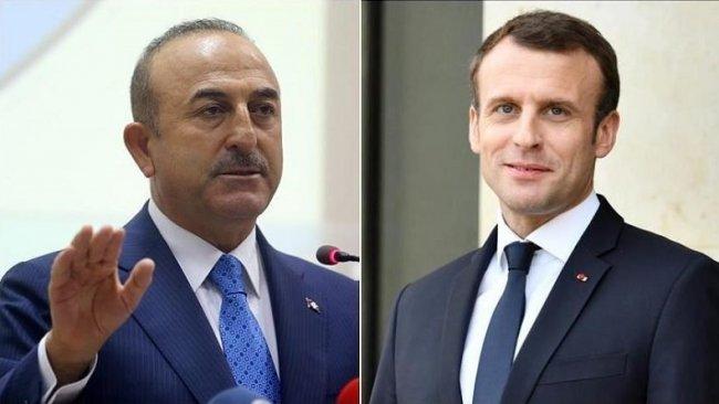 Çavuşoğlu: Tehlikeli oyunu oynayan Macron'dur