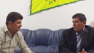 Mazlum Abdi, YNK Eş Başkanı Lahur Cengi'yle görüştü