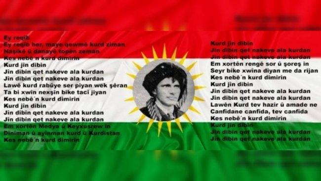 Kürt Ulusal Marşı ''Ey Reqîb''e hakaret eden kişi hakkında suç duyurusu