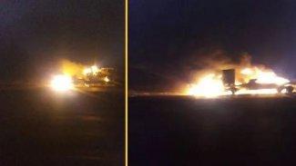ABD'nin askeri konvoyuna saldırı