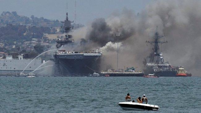 ABD savaş gemisinde yangın: Çok sayıda yaralı var