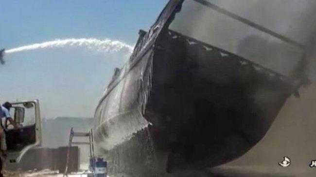 İran'da korkutan yangın