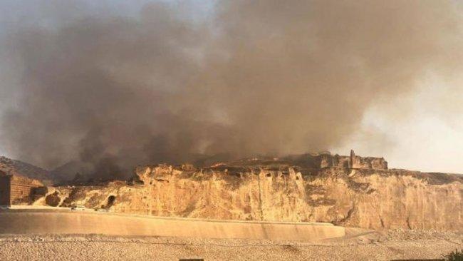 Hasankeyf'te yangın: 2 bin dönümlük alan küle döndü