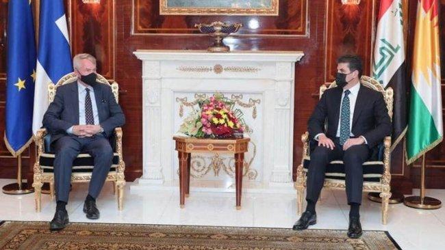Başkan Neçirvan Barzani, Finlandiya Dışişleri Bakanı'nı kabul etti
