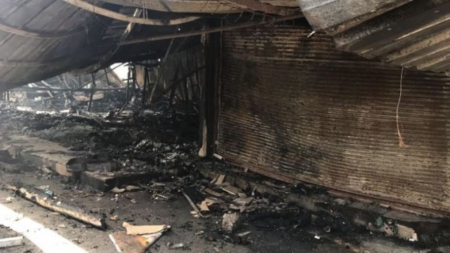 Erbil'de korkutan yangın: 250'den fazla iş yeri yandı