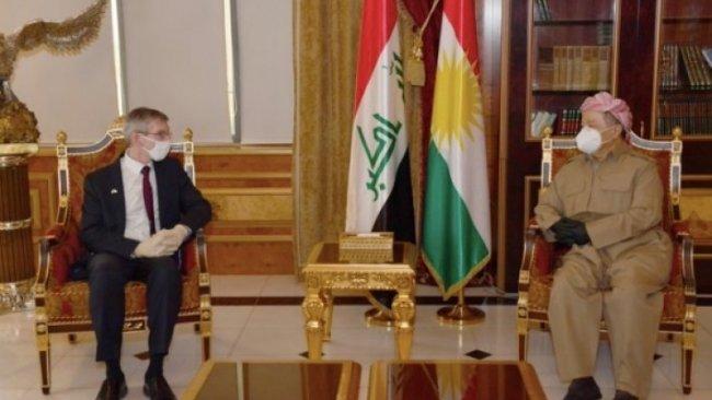 Başkan Barzani ABD'nin Kürdistan Bölgesi yeni başkonsolosunu kabul etti