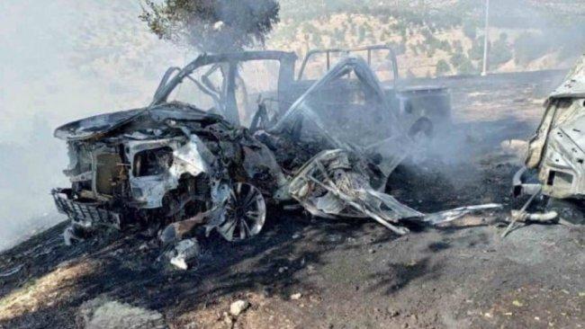 TSK savaş uçakları Duhok'ta 2 aracı vurdu!