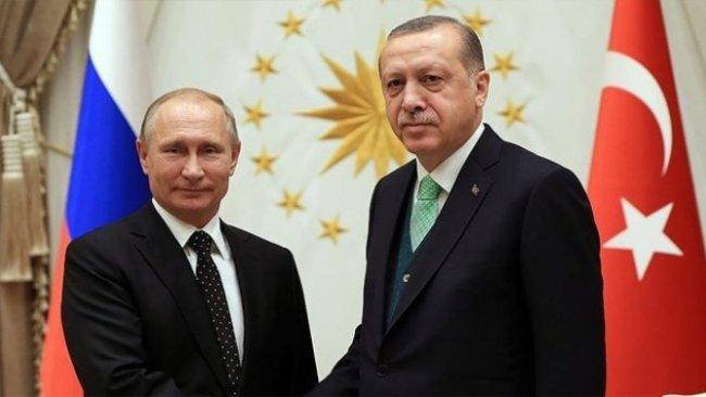 Erdoğan ile Putin'den Suriye ve Libya görüşmesi