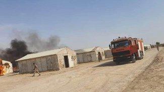 Uluslararası Koalisyon güçlerinin konvoyuna mayınlı saldırı