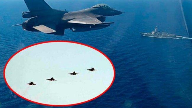 Türk ve Yunan savaş uçakları burun buruna geldi!