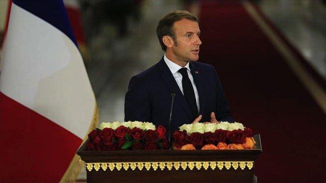 Macron, dış müdahalelerin Irak'ı zayıflatabileceğini söyledi