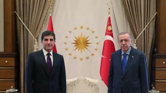 Başkan Neçirvan Barzani, Ankara'da Erdoğan ile görüştü