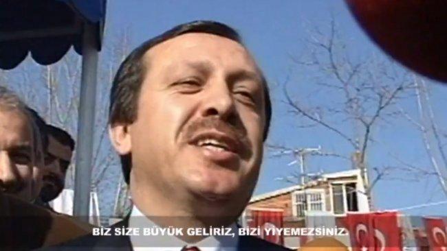Erdoğan: Biz size büyük geliriz, bizi yiyemezsiniz