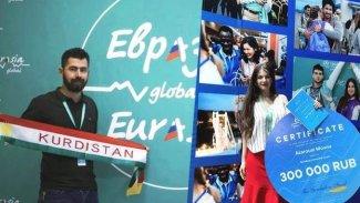 Kürt genç Rusya'daki gençlik forumunda birinci oldu
