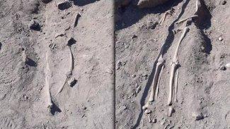 Diyarbakır surlarında insan kemikleri bulundu