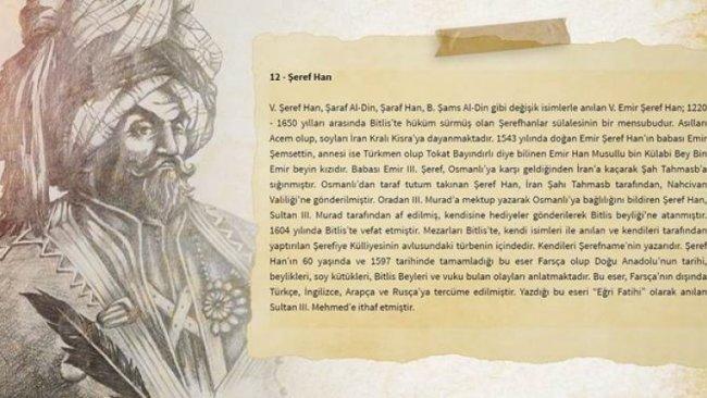Bitlis İl Kültür Müdürlüğü Kürt Miri Şerefhan'ı Acem olarak tanıttı