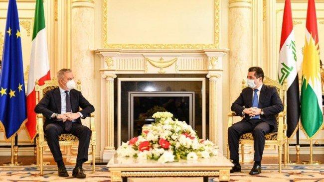 Başbakan Barzani, İtalya Savunma Bakanı  Guerini'yi kabul etti