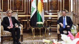 Mesrur Barzani, Irak Yargı Yüksek Konseyi Başkanı Faik Zedan'ı kabul etti