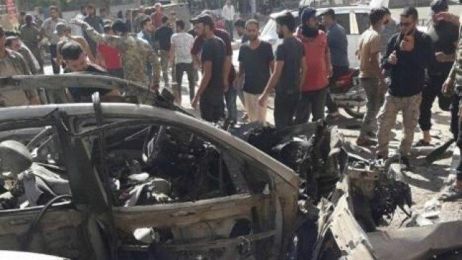 Efrin'de bomba yüklü araç infilak etti