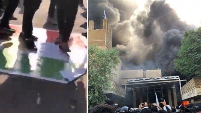 ENKS'den Kürdistan Bayrağı'nın yakılmasına tepki: Şiddetle kınıyoruz!