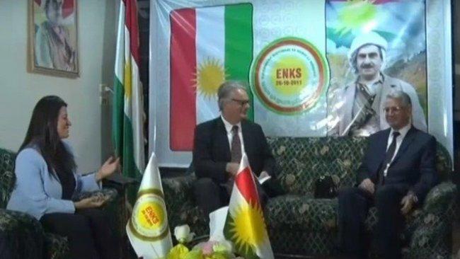 Rojava'da bulunan İsveç Dışişleri Bakanlığı heyeti ENKS'yi ziyaret etti