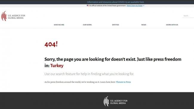 ABD Küresel Medya Ajansı'nın '404' uyarısı: Aradığınız gibi bir sayfa yok; tıpkı Türkiye'deki basın özgürlüğü gibi