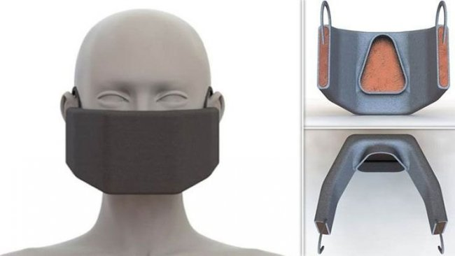 Koronavirüsü yakan maske üretildi