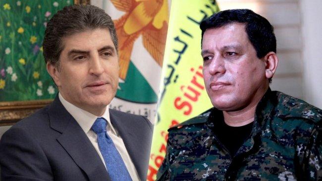 Mazlum Abdi'den Neçirvan Barzani'ye başsağlığı mesajı