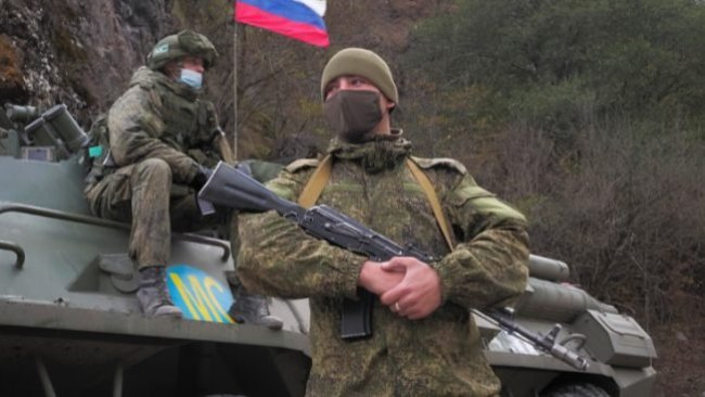 Rus askerleri Dağlık Karabağ'da