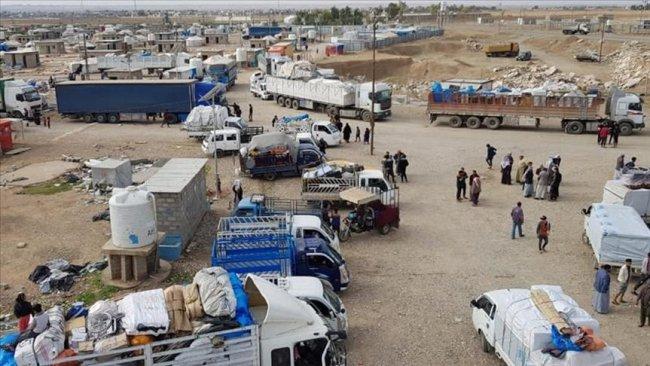 Kerkük ve Diyala'daki göçmenlere ait tüm kamplar kapatıldı