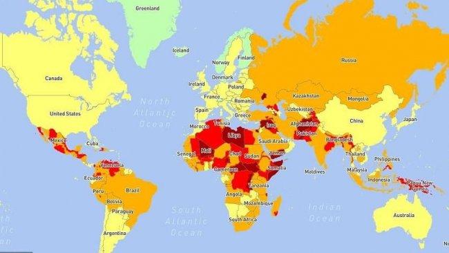5 devlet 2021 yılında en tehlikeli yer olarak görüldü