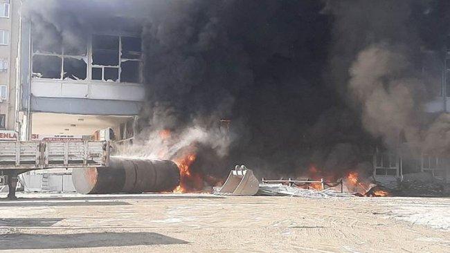 Adıyaman'da yakıt tankında patlama