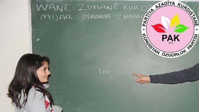 PAK'dan Kürtçe eğitim çağrısı