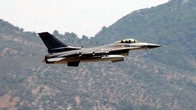 Türk savaş uçakları Amedi ilçesine bağlı Bazey vadisini bombaladı