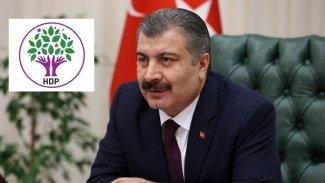 Sağlık Bakanı Koca'dan HDP'ye teşekkür