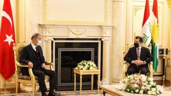 Başbakan Mesrur Barzani, Hulusi Akar'la bir araya geldi