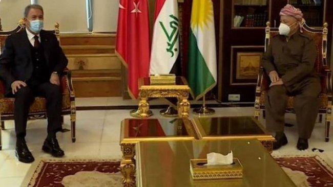 Başkan Barzani, Hulusi Akar'la görüştü