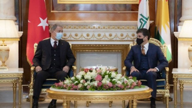 Neçirvan Barzani, Hulusi Akar ile bir araya geldi
