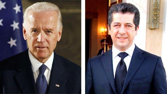 Mesrur Barzani'den Joe Biden'a kutlama