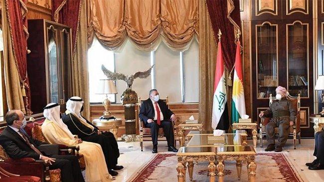 Arap ülkelerin temsilcilerinden Başkan Barzani'ye teşekkür