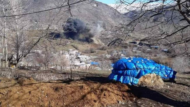 TSK'dan Pişder kırsalına bombardıman
