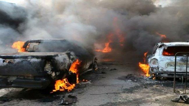 Afrin'de bomba yüklü araç patladı: 1 ölü, 4 yaralı
