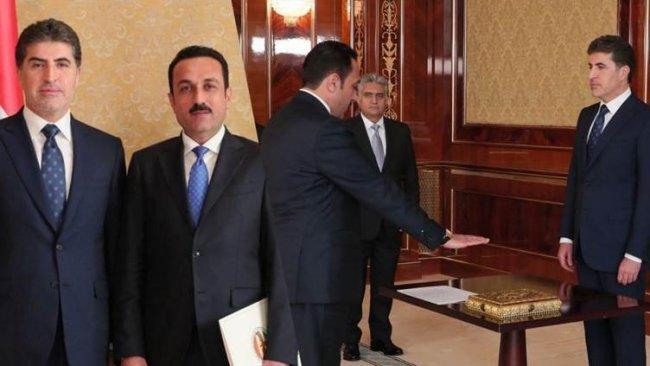 Erbil Valisi Xoşnaw yemin ederek göreve başladı