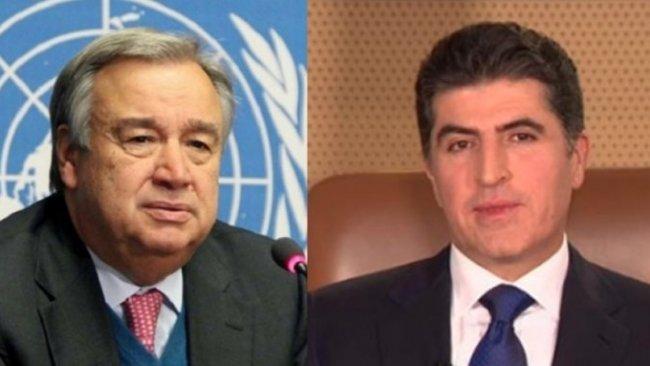 Guterres'ten Neçirvan Barzani'nin çağrısına yanıt