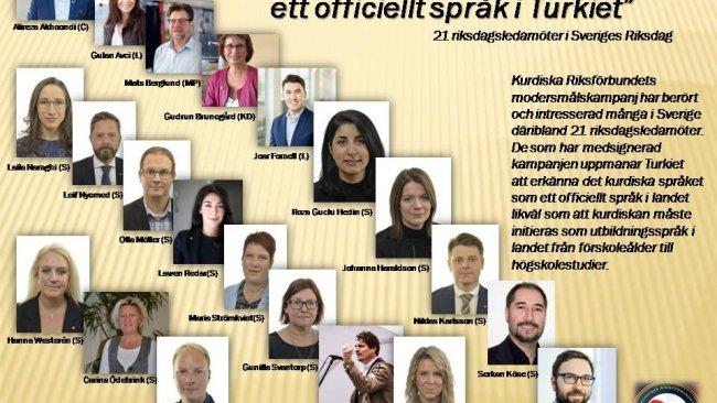 İsveçli vekillerden Türkiye'de Kürtçe'nin resmi dil olmasına destek